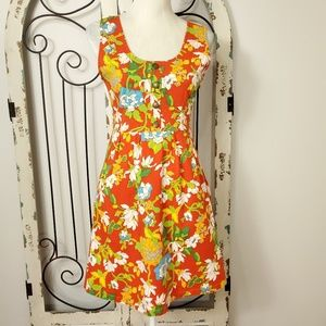Tulle floral sleeveless dress small